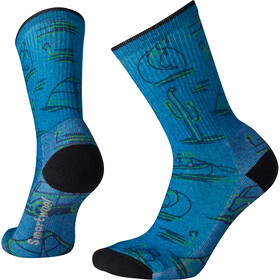 Smartwool Hike Light Down the River Print Calcentines Crew Mujer, oasis